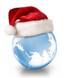 Conceito do planeta do Natal fotografia de stock