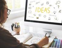 Conceito do plano da visão do projeto da ação da estratégia das ideias Fotos de Stock