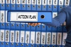 Conceito do plano de ação Planeamento da visão da estratégia do plano de ação Imagem de Stock