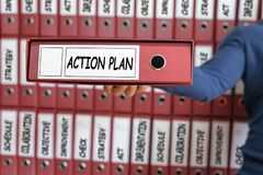 Conceito do plano de ação Planeamento da visão da estratégia do plano de ação Fotografia de Stock