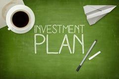 Conceito do plano de investimento Imagens de Stock Royalty Free