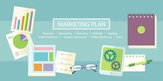 Conceito do plano de marketing Fotos de Stock
