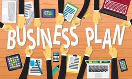 Conceito do plano de negócios Fotografia de Stock Royalty Free