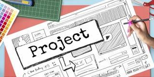Conceito do plano do esquema do Web site da ideia do projeto Imagens de Stock