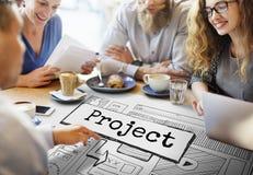 Conceito do plano do esquema do Web site da ideia do projeto Fotos de Stock Royalty Free