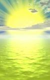 Conceito do por do sol Fotografia de Stock