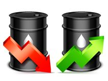 Conceito do preço do petróleo Imagens de Stock Royalty Free