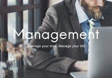 Conceito do processo da estratégia empresarial da organização da gestão imagem de stock