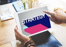 Conceito do progresso do planeamento de operação da motivação da estratégia imagens de stock