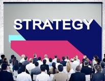 Conceito do progresso do planeamento de operação da motivação da estratégia imagem de stock