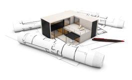 Conceito do projeto do plano ilustração stock