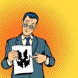 Conceito do psicólogo, estilo da banda desenhada ilustração do vetor