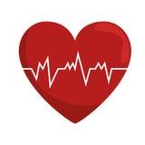 conceito do pulso da frequência cardíaca saudável ilustração royalty free