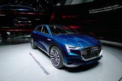 Conceito do quattro de Audi e-Tron nos carros de IAA Foto de Stock
