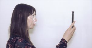 Conceito do reconhecimento facial video estoque