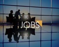 Conceito do recrutamento de Job Career Occupation Human Resource dos trabalhos fotografia de stock