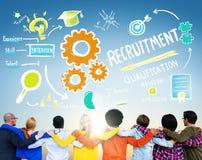 Conceito do recrutamento dos trabalhos de equipa da amizade dos povos da diversidade Foto de Stock