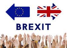 Conceito do referendo da UE Brexit de Grâ Bretanha fotografia de stock