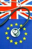 Conceito do referendo de Brexit Fotografia de Stock