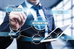 Conceito do relatório da operação bancária do financiamento do negócio da análise de contabilidade Imagem de Stock