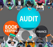 Conceito do relatório do dinheiro da finança da contabilidade da auditoria Fotos de Stock