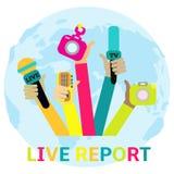 Conceito do relatório vivo, Fotos de Stock