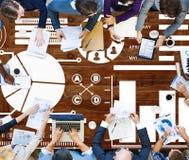 Conceito do relatório de Inforgraphic da informação de dados da carta do gráfico de barra Foto de Stock