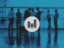 Conceito do relatório de progresso do gráfico de barra do negócio Imagens de Stock Royalty Free