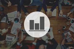 Conceito do relatório de progresso do gráfico de barra do negócio Foto de Stock Royalty Free