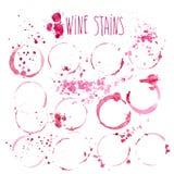 Conceito do respingo e das manchas do vinho Fotos de Stock