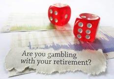 Conceito do risco da aposentadoria imagem de stock
