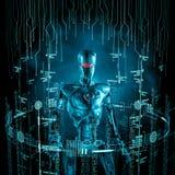 Conceito do robô dos dados Imagens de Stock Royalty Free