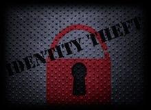 Conceito do roubo de identidade imagens de stock royalty free