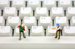 Conceito do roubo em linha phishing e de identidade Imagem de Stock
