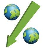 Conceito do símbolo da porcentagem Imagens de Stock
