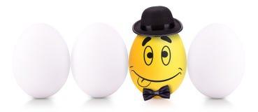 Conceito do símbolo do sucesso com ovo branco Fotos de Stock Royalty Free