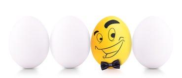 Conceito do símbolo do sucesso com ovo branco Fotos de Stock