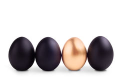 Conceito do símbolo do sucesso com ovo do ouro Imagens de Stock