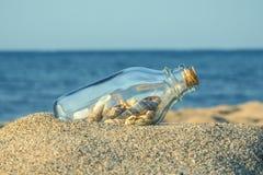Conceito do Sandy Beach do verão Foto de Stock