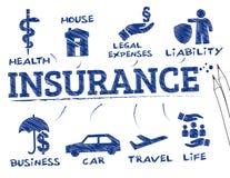 Conceito do seguro ilustração royalty free