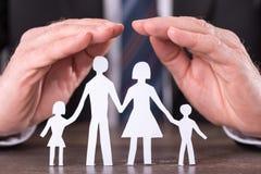 Conceito do seguro da família fotografia de stock
