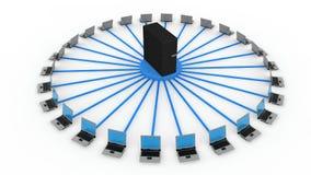 Conceito do server Imagens de Stock