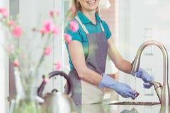 Conceito do serviço doméstico e das tarefas domésticas foto de stock royalty free