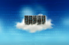 Conceito do servidor da nuvem Fotografia de Stock Royalty Free