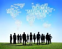 Conceito do serviço de qualidade da confiança da satisfação do cliente Imagens de Stock