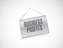 Conceito do sinal da bandeira dos lucros de negócio Imagem de Stock Royalty Free