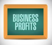Conceito do sinal da placa dos lucros de negócio Foto de Stock