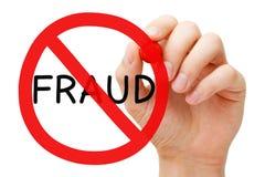 Conceito do sinal da proibição da fraude imagem de stock royalty free