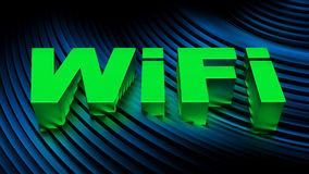 Conceito do sinal de WiFi Foto de Stock Royalty Free