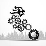 Conceito do sistema do mecanismo do neg?cio Fotografia de Stock Royalty Free